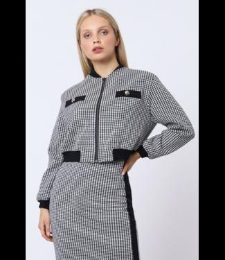 Italiano Herringbone Crop Jacket