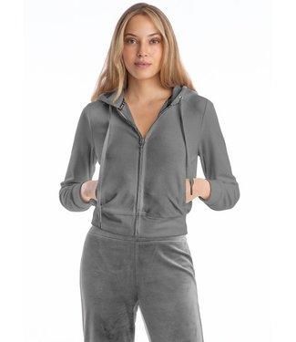 Juicy Couture Grey velour long sleeve hoodie
