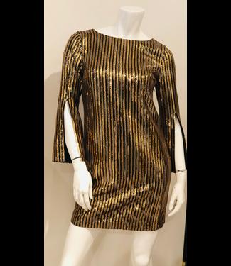 trina turk Metallic Vertical Sequin Dress