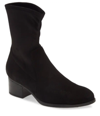 Bos & Co Waterproof black suede bootie