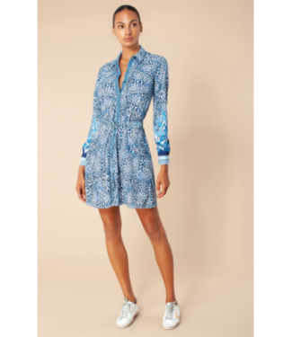 hale Bob Navy Paulina Shirt Dress