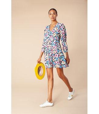 hale Bob Black Flower L/S Dress