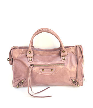 Italian Leather Rectangle handle satchel with hardware