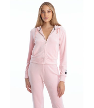 Juicy Couture Charming pink velour hoodie