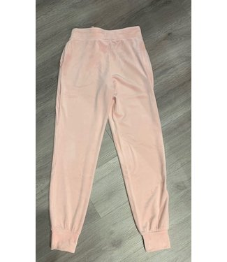 Juicy Couture Charming Pink Velour Jogger