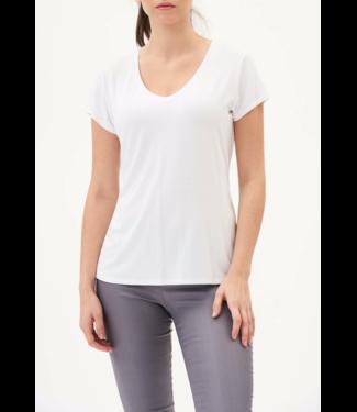 Tyler Madison White V Neck T shirt