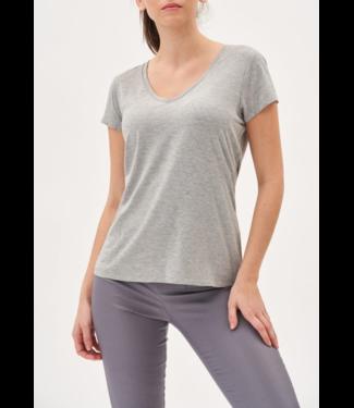 Tyler Madison Grey V Neck T Shirt