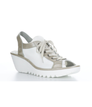 Fly White and Silver Sneaker Sandal