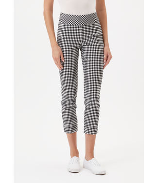 Up Gingham Black and White Cuffed Pant
