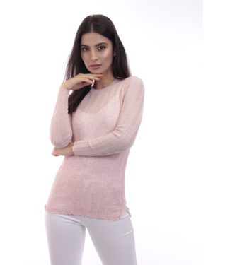 dolce Cabo Long Sleeve Crew Neck in Blush