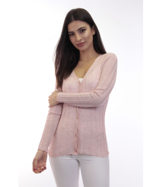 dolce Cabo L/S Button Cardigan in Blush