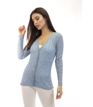dolce Cabo L/S Button Cardigan in Sky Blue