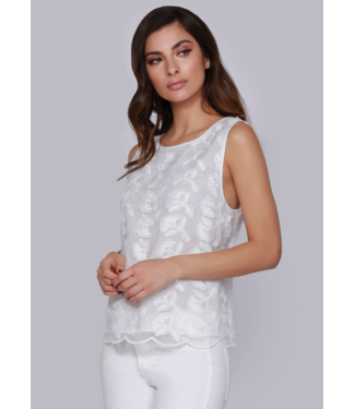 dolce Cabo White Lace Tank Top