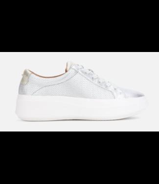 Gentle Souls Rosette silver lightweight platform sneaker