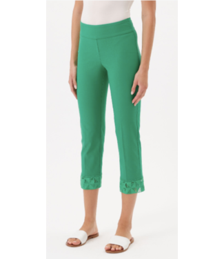 Up Kelly Green Lace Crop Hem Pant