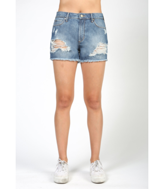 Articles of Society Distressed Denim Short