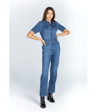 Articles of Society Denim Jumpsuit