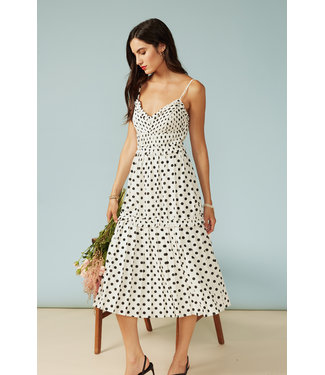 Adelyn Rae Polkadot Pleated Dress