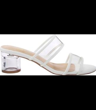 Azura White Clear Heel Sndal