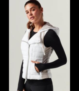 blanc noir White/Fog Grey Hoodie Vest