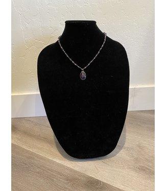 Lula 'n' Lee Purple Crystal Necklace