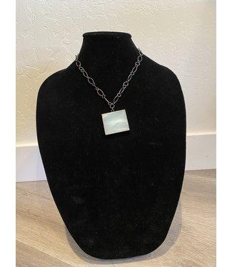 Lula 'n' Lee Hematite Chain w/ Amazonite Necklace
