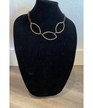 Claudia Lobao Gold oval w/gunmetal links