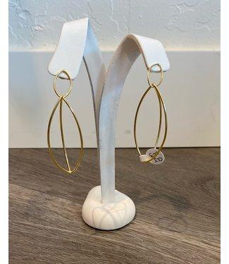 Claudia Lobao Gold 3D Oval Hoops