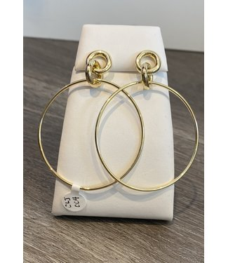 Claudia Lobao Knotted Gold Hoop