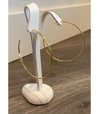 Claudia Lobao Thin Gold Hoop
