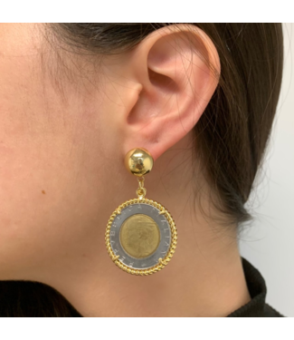 Cristina Sabatini Eve Coin Earring