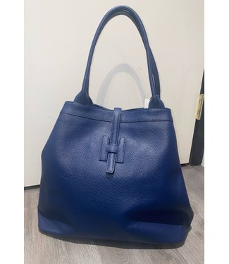 Navy Triangle Tote
