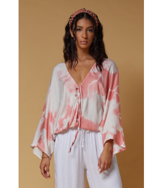 Scandal Tie Dye Peach Top