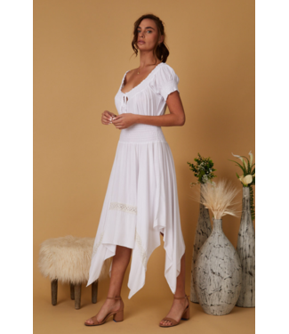 Scandal White Gauze Dress