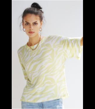 sen Lime Zebra Linen T