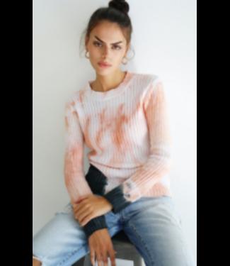 sen Tie Dye Cotton Crew Neck Sweater