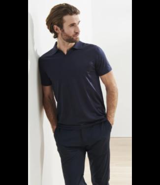 patrick assaraf Galaxy Blue Silk/Cotton Polo