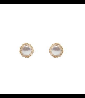 Carolina Wong Pearl Stud Earring