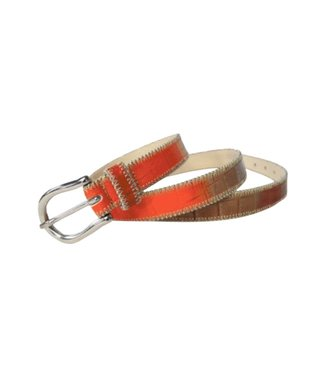 Berge Leather Goods Red Multi Belt