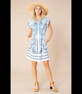 hale Bob Denim Beaded Dinah Jersey Dress