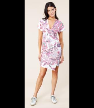 hale Bob Faux Wrap Ivory Dress