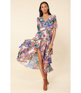 hale Bob Tiered Floral Maxi Dress