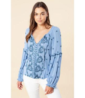 hale Bob Embroidered Floral Shirt
