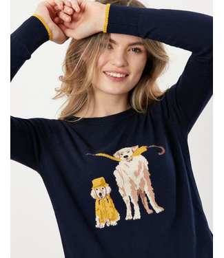 Joules Dog Sweater Navy