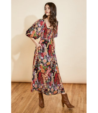 Hutch Haven Smocked Waist Floral Maxi