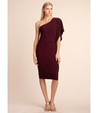 trina turk Ratio One Shoulder Dress Cab Franc