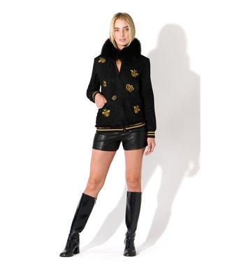 Oolala Black Denim Jacket w/Bees