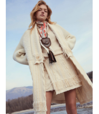 Beatrice B Cream Sweater Skirt