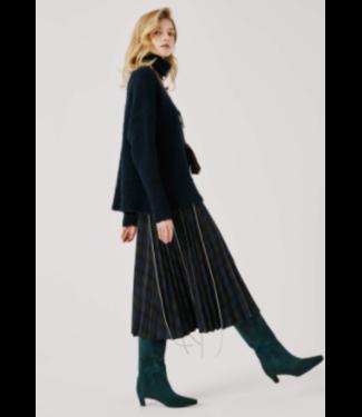 Beatrice B Embellished Plaid Pleated Skirt