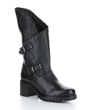 Bos & Co Irene Moto Boot Blk